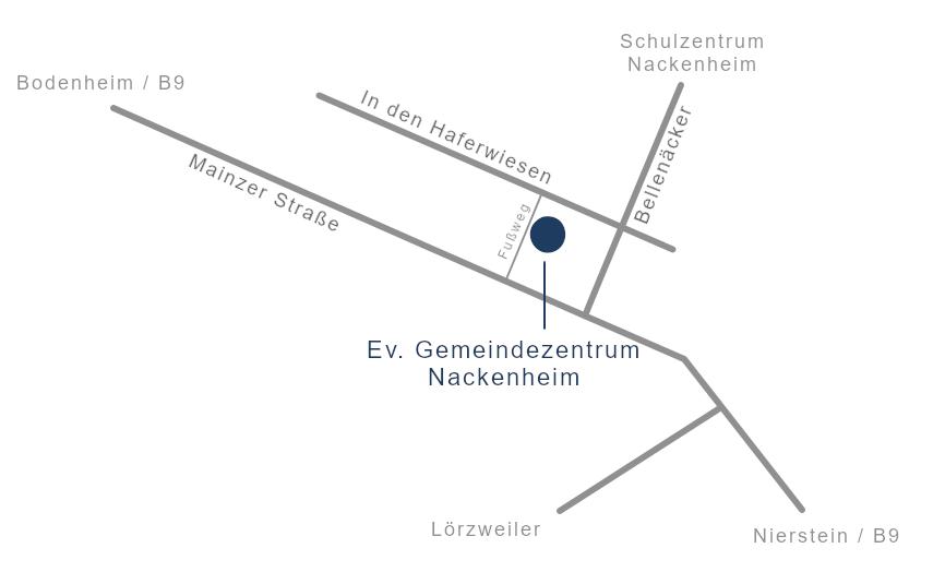 Lageplan Gemeindezentrum Nackenheim